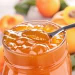 Eine Mango-Marillenmarmelade